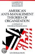 American Anti-Management Theories Of Organization